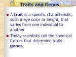 traits and genes