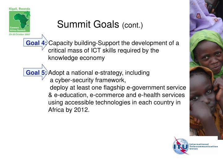 Summit Goals