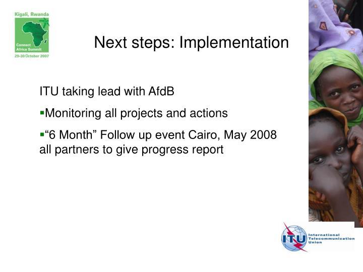 Next steps: Implementation