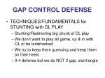gap control defense