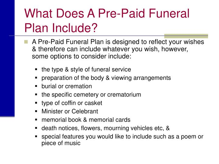 Ppt Planning A Funeral Presented By Name Of Funeral