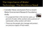 the importance of water technology the workforce need