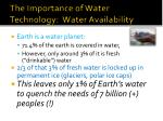 the importance of water technology water availability