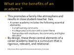 what are the benefits of an academy
