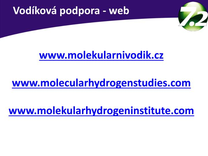 Vodíková podpora - web