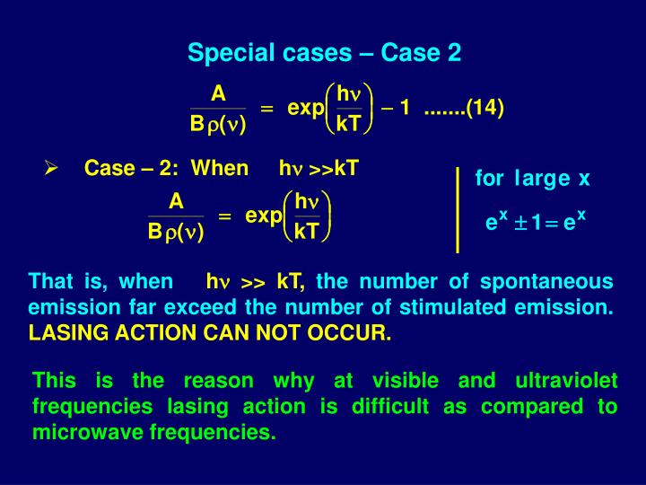Special cases – Case 2