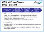 cdm at powerstream 2005 present