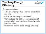 teaching energy efficiency