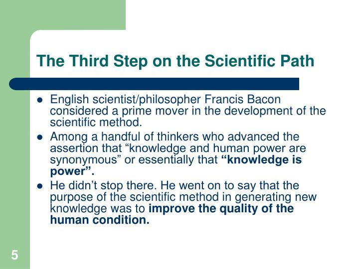 third step of scientific method