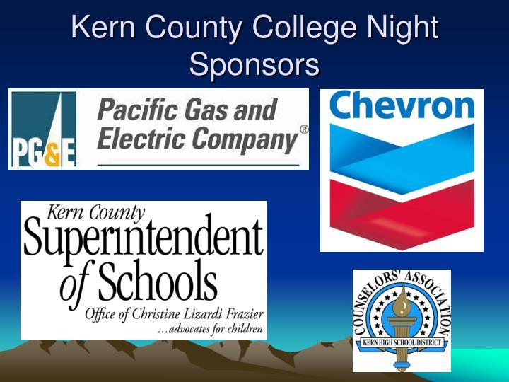 Kern County College Night Sponsors