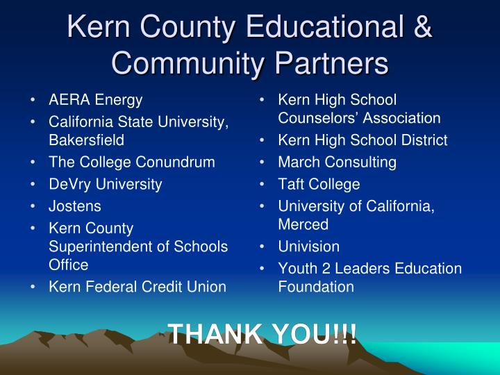Kern County Educational & Community Partners