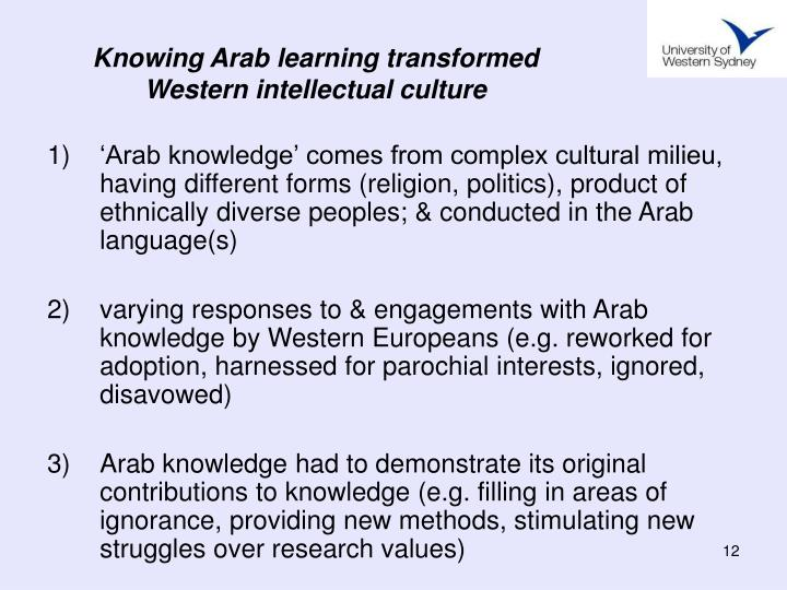 Knowing Arab learning transformed Western intellectual culture