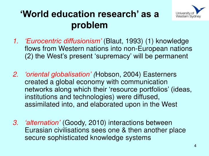'World education research' as a problem
