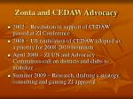 zonta and cedaw advocacy