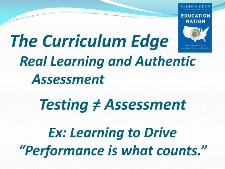 The Curriculum Edge