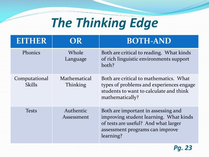 The Thinking Edge