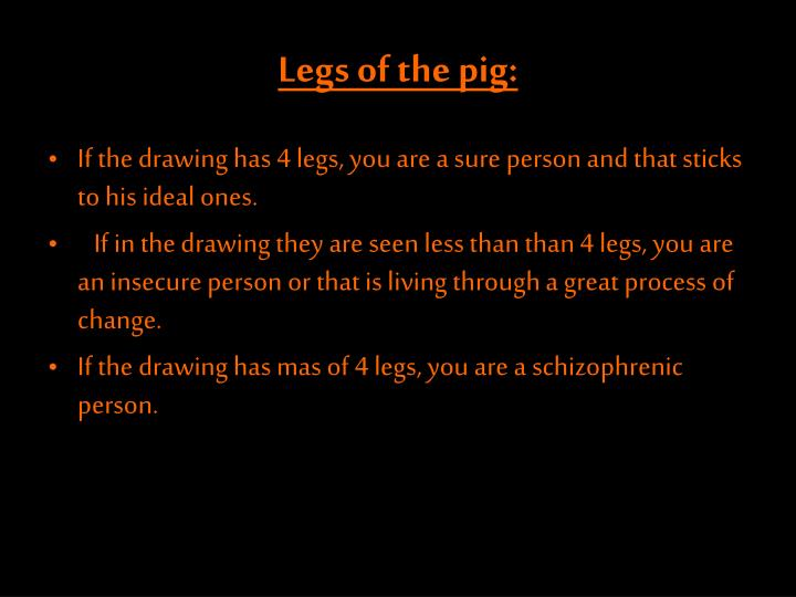 Legs of the pig: