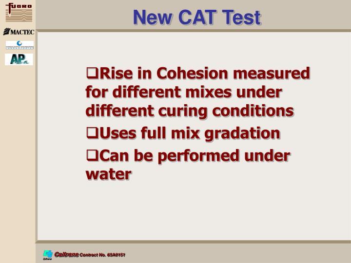New CAT Test