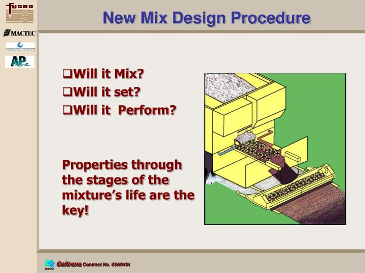 New Mix Design Procedure