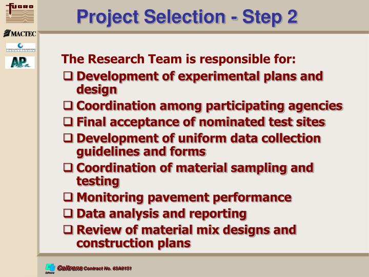 Project Selection - Step 2