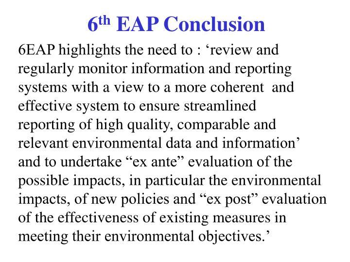 6 th eap conclusion