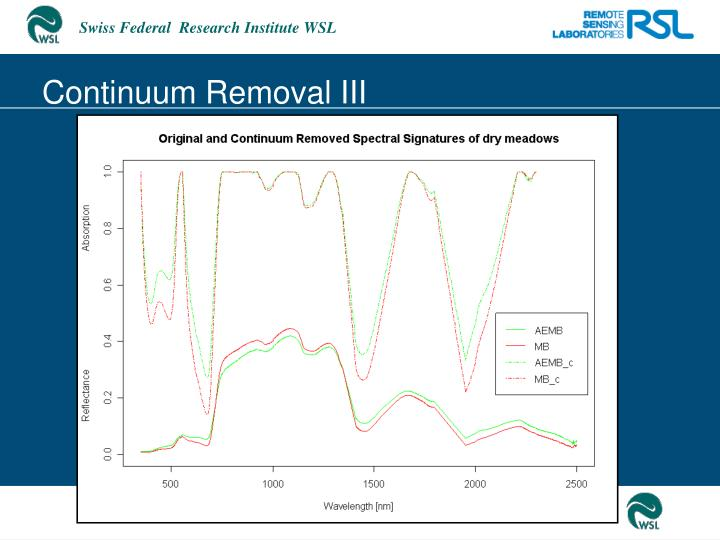 Continuum Removal III