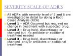 severity scale of adr s