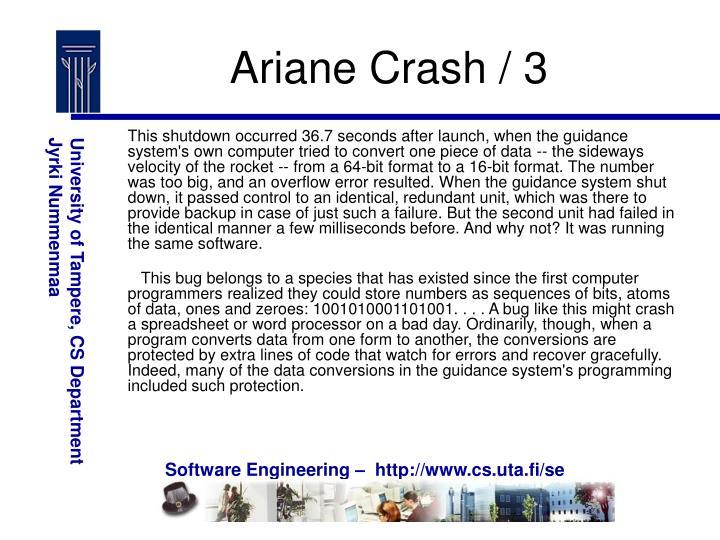 Ariane Crash / 3