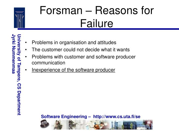 Forsman – Reasons for Failure