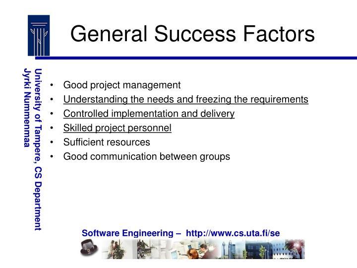 General Success Factors