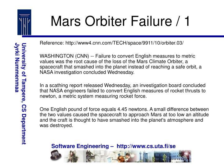 Mars Orbiter Failure / 1