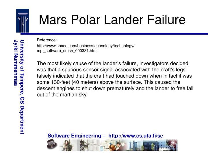 Mars Polar Lander Failure