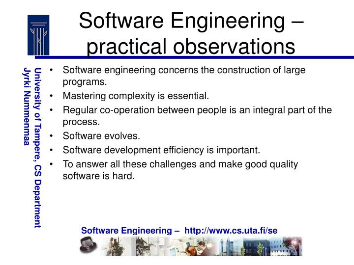Software Engineering – practical observations