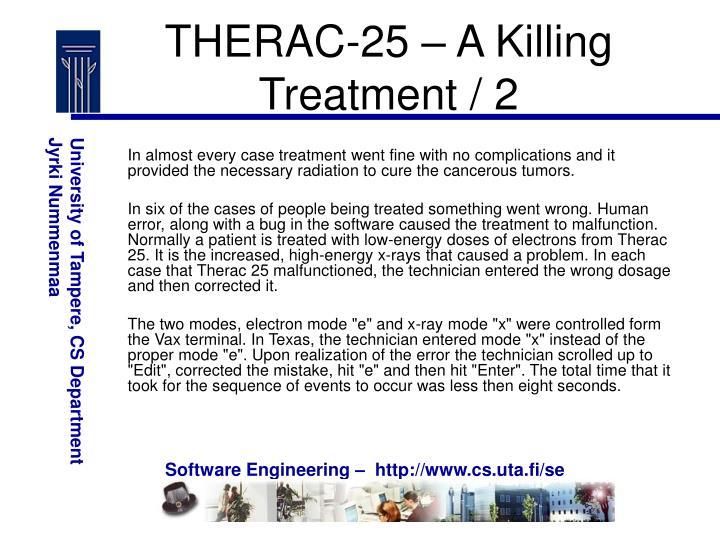 THERAC-25 – A Killing Treatment / 2