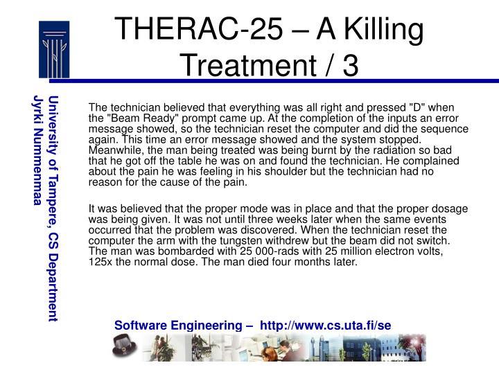 THERAC-25 – A Killing Treatment / 3