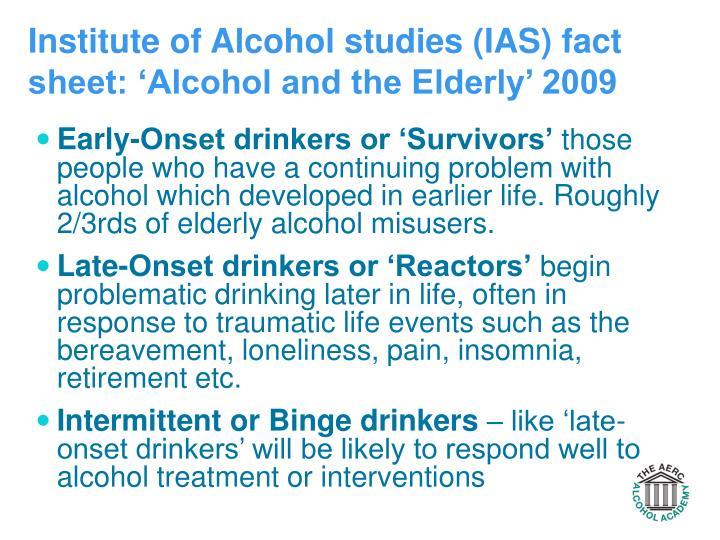 a study of alcoholism