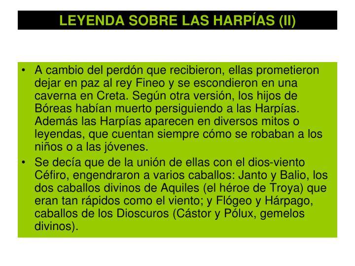 LEYENDA SOBRE LAS HARPÍAS (II)