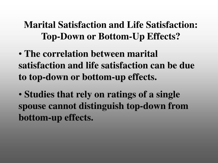 marital satisfaction Keeping marriages healthy, and why it's so difficult newlyweds' initially high levels of marital satisfaction tend to decline over time (vanlaningham.