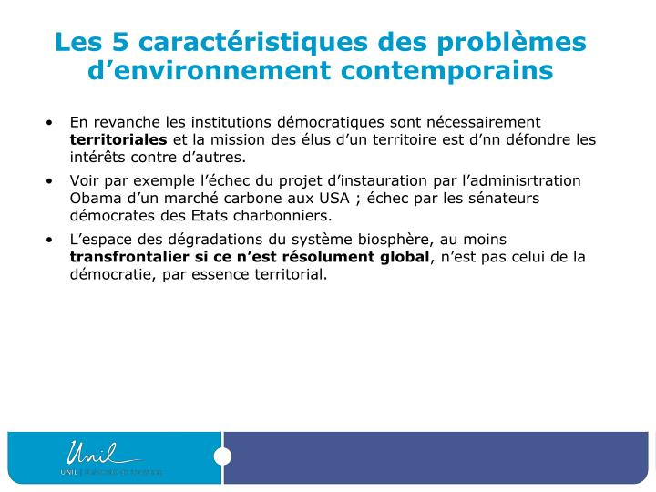 Les 5 caractéristiques des problèmes d