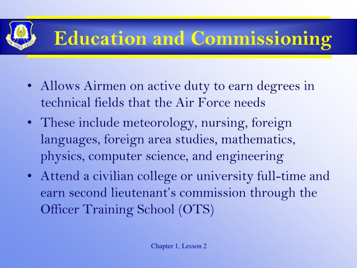 Education and Commissioning