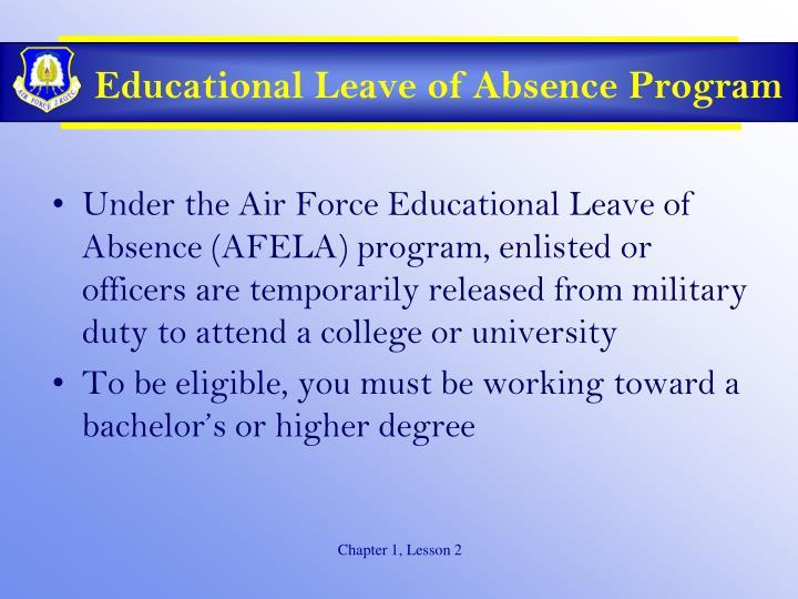 Educational Leave of Absence Program