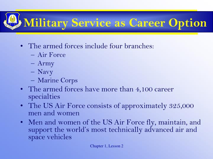 Military Service as Career Option