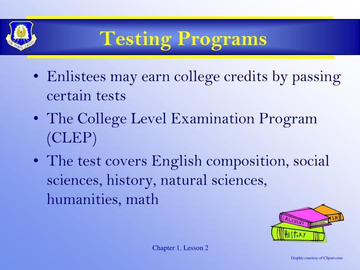 Testing Programs