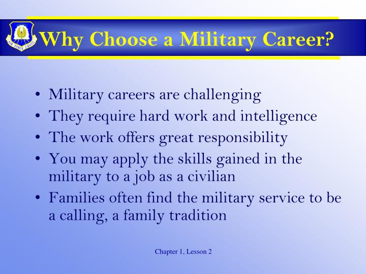 Why Choose a Military Career?