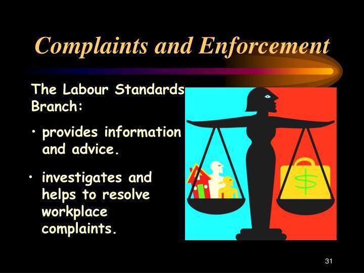 Complaints and Enforcement
