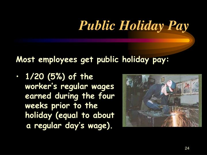 Public Holiday Pay