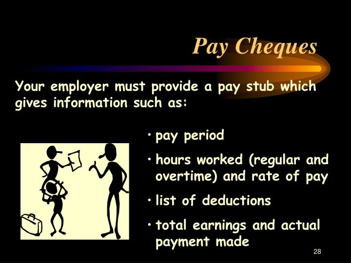 Pay Cheques