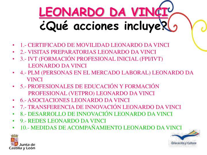 1.- CERTIFICADO DE MOVILIDAD LEONARDO DA VINCI
