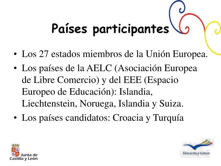 Los 27 estados miembros de la Unión Europea.