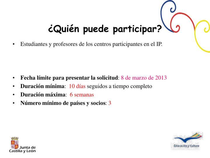 Estudiantes y profesores de los centros participantes en el IP.
